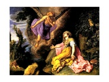 Hagar and the Angel, 1614 Giclee Print by Pieter Lastman