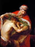Return of the Prodigal Son, 1773 Giclée-tryk af Pompeo Batoni