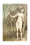 Female Nude with Death as a Skeleton, 1897 Giclee Print by Armand Rassenfosse