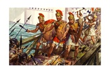 Horatius Cocles Defending the Pons Sublicius Giclee Print by James Edwin Mcconnell