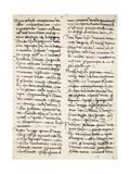 Letter Written Giclee Print by Amerigo Vespucci