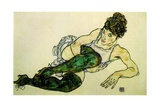 The Green Stockings, 1917 Giclee Print by Egon Schiele