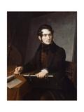 Portrait of Felice Schiavoni Giclee Print by Natale Schiavoni