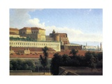 Naples, the Palazzo Reale, C.1780 Giclee Print by Alexandre Hyacinthe Dunouy