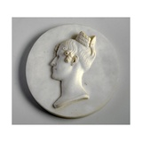 Medallion Portrait of Mrs Mary Brooke, 1834 Giclee Print by Joseph Gott