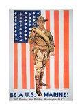 Be a Us Marine', 1st World War Poster Giclee Print