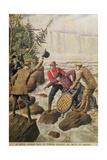 Over Niagara Falls in a Barrel, 1910 Giclee Print