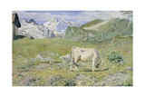 Spring Pastures Giclee Print by Giovanni Segantini