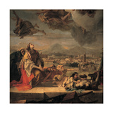 St Tecla Freeing Este from the Plague, 1759 Giclee Print by Giovanni Battista Tiepolo