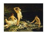 Bathers Giclee Print by Lorenzo Delleani