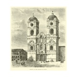 Church of the Jesuits at Cuzco Giclee Print by Édouard Riou