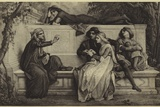 A Florentine Poet Photographic Print by Alexandre Cabanel