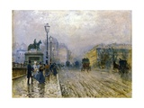 The Pont Neuf, Paris Giclee Print by Giuseppe De Nittis