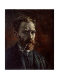Self-Portrait with Pipe, 1886 Giclee Print by Vincent van Gogh