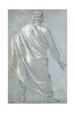A Man Seen from Behind Wearing a Cloak Giclee Print by Ludovico Cardi Cigoli