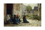 Morning Prayer, 1883 Giclee Print by Luigi Rossi