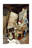 The Painter's Studio Giclee Print by Giuseppe Signorini