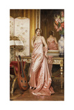 An Elegant Lady in an Interior Giclee Print by Joseph Frederic Soulacroix