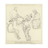 Modesty and Justice Returning to Heaven Giclee Print by John Flaxman