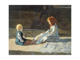 Children in Sun, Circa 1860 Impression giclée par Cristiano Banti