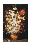 A Still Life of Flowers in a Wooden Tub, C.1630S Giclee Print by Jan Brueghel the Younger