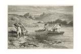 Pecheurs a L'Epoque De La Pierre Polie Giclee Print by Emile Antoine Bayard