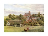 The Church on the Hill, Kersey, Suffolk Giclee Print by Alfred Robert Quinton
