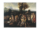 Baptism of Christ Giclee Print by Jan van Scorel