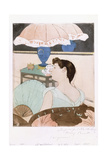 The Lamp, 1890-91 Giclee Print by Mary Cassatt