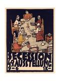 Poster Advertising Secession 49 Exhibition, 1918 Gicléetryck av Egon Schiele