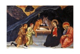 Adoration of Shepherds Giclée-tryk af Taddeo di Bartolo