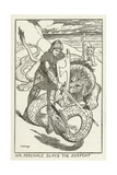 Sir Percivale Slays the Serpent Giclee Print by Henry Justice Ford