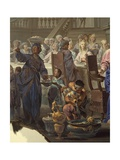 Wedding at Cana Giclee Print by Vittorio Maria Bigari