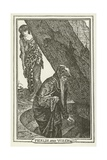 Merlin and Vivien Giclee Print by Henry Justice Ford