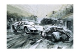 The Le Mans Race in 1967 Giclee Print by Graham Coton