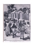 Slavery Emancipation Festival in Barbad Os 1834 Giclee Print by Henry Marriott Paget