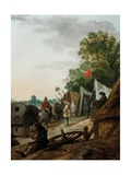 A Military Encampment Giclee Print by Palamedes Palamedesz