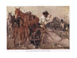 Eyre and Wylie Threatened Giclee Print by George Washington Lambert