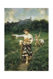 Shepherdess, 1877 Giclee Print by Francesco Paolo Michetti