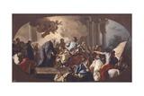 St Benedict Welcomes Totila Giclee Print by Francesco de Mura