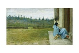 Lady at Work Impression giclée par Silvestro Lega