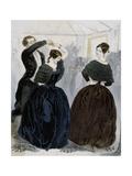 Dance of Quadrille, Engraving Giclée-Druck von Charles Vernier