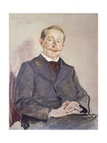 Portrait of Dr Max Linde Giclee Print by Max Liebermann
