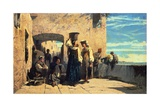 Fishwives in Lerici, 1860 Giclee Print by Telemaco Signorini