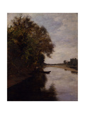 The Po River in Chivasso Giclee Print by Demetrio Cosola