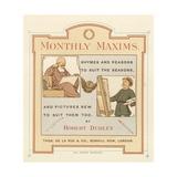 Title Page of Monthly Maxims Lámina giclée por Robert Dudley
