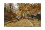 City Park Giclee Print by Pietro Scoppetta