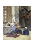 An Arab Schoolmaster, 1889 Giclee Print by Ludwig Deutsch