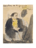 Caricature of Paul Gauguin, 1889 Giclee Print by Emile Bernard