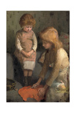 Sisters Giclee Print by Elizabeth Adela Stanhope Forbes